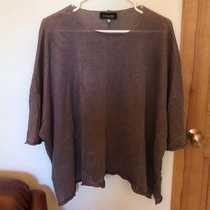 Taupe Linen Sweater by Eskandar